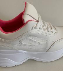 Buffalo stílusú platform fehér női sportcipő 38