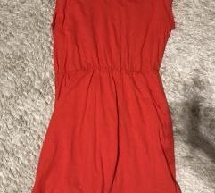 H&m basic piros pamut ruha