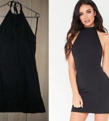 Francia fekete nyakbakötős ruha 38 40