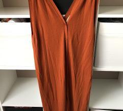 H&M rozsda színű gombos ruha