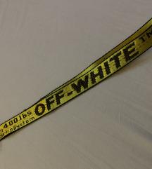 Off white kulcstartó