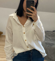 Oversize fehér ing