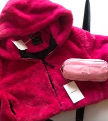 Bershka Pink szőrme felső + ajándék