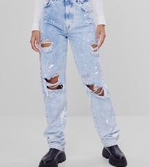 Új Bershka Straight Ripped Jeans