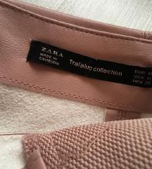 S-M zara rózsaszín bőrszoknya + ajándék