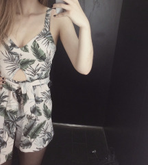 Pull&bear tropical jumpsuit
