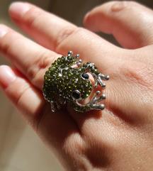 Békás strassz gyűrű