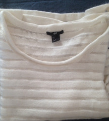 S hófehér H&M pulcsi