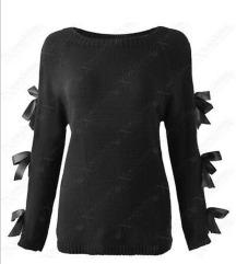 vékony masnis pulóver