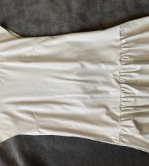 Fehér műbőr ruha