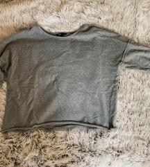 szürke oversized pulcsi