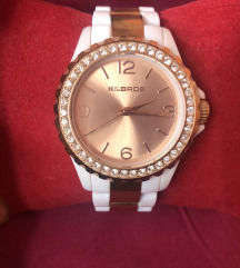 K&Bros rosegold és fehér női óra