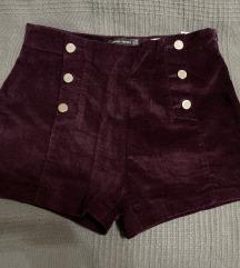 Bershka bársony short, csizma nadrág