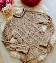 Glenfield alpakka-gyapjú kötött pulóver S