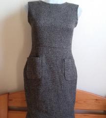 The Little Black Dress mintás szövet ruha, S/M-es