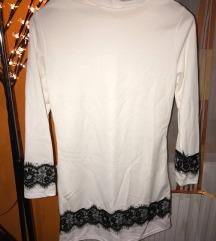 Fehér tunika csipke mintával Posta az árban