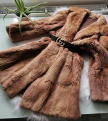 Pihe-Puha valódi szőrme kabát M