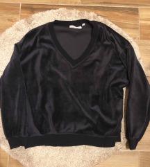 Velúr sötétkék pulcsi (inkább M-L)