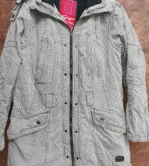 40-es fekete-fehér kockás kabát