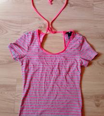 H&M rózsaszín csíkos felső