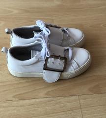 💙🤍💙 Bronx fehér platformos cipő