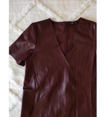Zara műbőr ruha