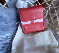 Új Coccinelle leather backpack