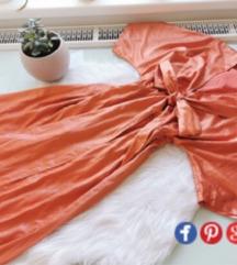 Szatén hatású maxi ruha