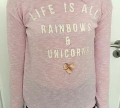 Rózsaszín lányka hosszúujjú póló