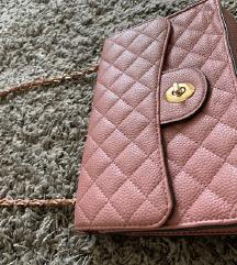 Zara divatos rózsaszín elegáns kistáska