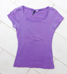 H&M lila basic póló 34/36