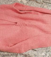 Babarózsaszín pihe-puha rövid pulóver