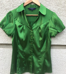 Zöld Szatén Ing
