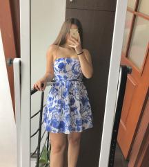 H&M csinos kék mintás ruha