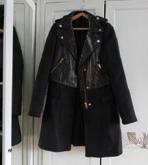 Zara valódi bőr biker kabát S