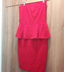 Új Mango M-es piros peplum ruha