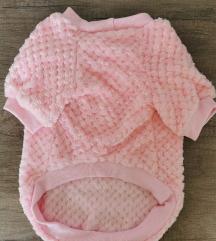 Rózsaszín meleg kutyaruha