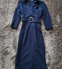 Orsay sötétkék bodycon ruha XXS XS