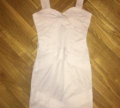 h&m divided púder rózsaszín xs bandage ruha