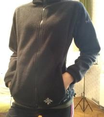 XS/S Cipzáros fekete polár túra pulcsi