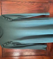Bershka olajzöldes, kékes ruha