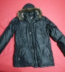 Férfi szőrmés tollas téli kabát