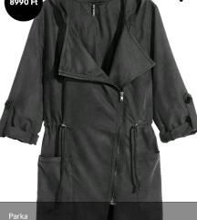H&M vékony sötétszürke kabátka / parka