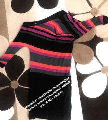 MayoChix ejtettvállú denevérujjas csíkos színes