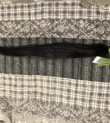 Fekete indiai nyers póthaj 68 cm