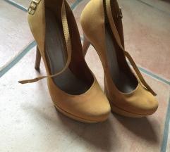 Mustársárga platform cipő