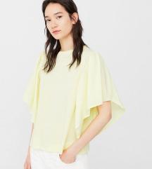 MANGO pasztell sárga póló