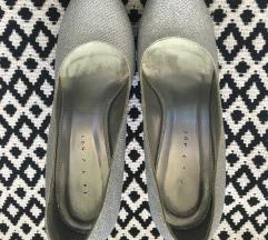 Never2hot ezüst platform cipő  38