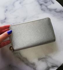 Metál ezüst pénztárca