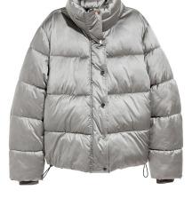 Ezüst pufi kabát